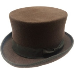 Boys Brown Premium Wool Classic Top Hat