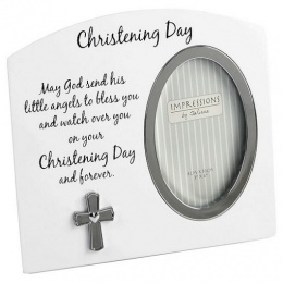 Christening Photo Frame with Prayer Gift