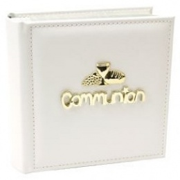 Gold & White Communion Photo Album Gift