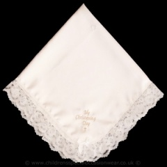 Ivory My Christening Day Satin & Lace Shawl