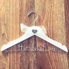 Handmade Little Best Man White Wooden Wedding Hanger