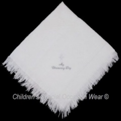 White Baby Star My Christening Day Cross Shawl