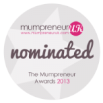 Nominated for the Mumpreneur Awards 2013