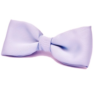 Boys Lilac Satin Plain Dickie Bow Tie on Elastic