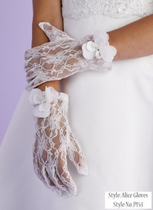 Girls Lace Communion Gloves - Alice P153 by Peridot