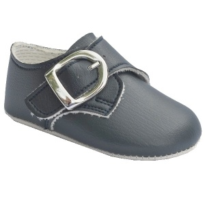 Baby Boys Navy Matt Buckle Pram Shoes 'Baypods'