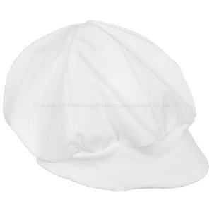 Baby Boys White Cap Hat