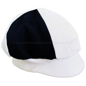 Baby Boys Navy & White Poly Cotton Christening Cap