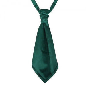 Boys Bottle Green Adjustable Scrunchie Wedding Cravat