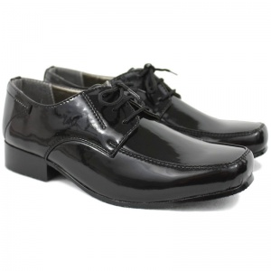 Boys Black Patent Formal Shoes - William