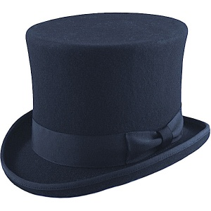 Boys Navy Premium Wool Tall Top Hat