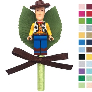 Boys Toy Story Woody Buttonhole with Satin Bow & Stem