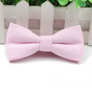 Boys Pastel Pink Cotton Bow Tie with Adjustable Strap