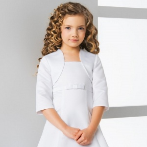 Girls 3/4 Sleeved Satin Bolero Jacket by Lacey Bell Style CJ46