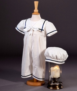 Baby Boys Cotton Romper & Hat - Charley by Millie Grace