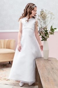 Emmerling Ivory or White Communion Dress - Style Danny