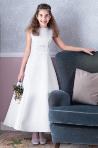 Emmerling White Communion Dress - Style Donna