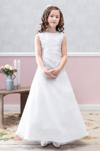 Emmerling White Communion Dress - Style Dorina