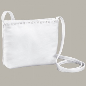 Emmerling White Beaded Communion Bag - Style 2056