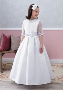 Emmerling Ivory or White Communion Dress - Style Esther