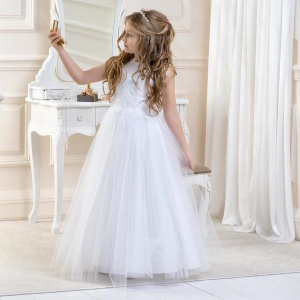 Girls Lace & Glitter Tulle Dress by Lacey Bell Style CD1