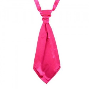 Boys Hot Pink Adjustable Scrunchie Wedding Cravat