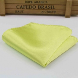 Boys Lime Green Satin Pocket Square Handkerchief