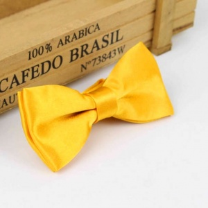 Boys Marigold Satin Bow Tie with Adjustable Strap