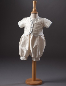 Baby Boys Waistcoat Christening Romper - Max by Millie Grace