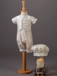 Baby Boys Silk Romper & Hat - Max by Millie Grace