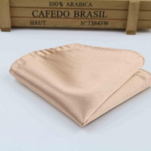 Boys Bronze Satin Pocket Square Handkerchief