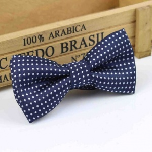 Boys Navy Polka Dot Bow Tie with Adjustable Strap