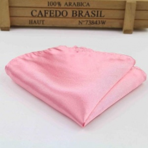 Boys Deep Pink Satin Pocket Square Handkerchief