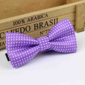 Boys Purple Polka Dot Bow Tie with Adjustable Strap