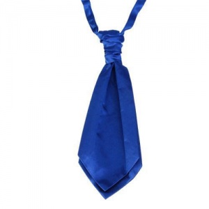 Boys Royal Blue Adjustable Scrunchie Wedding Cravat