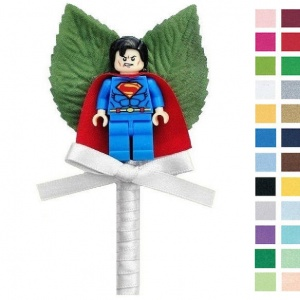 Boys Silver Buttonhole with Superman Figure