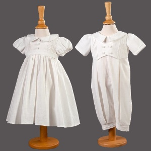 Baby Twins Christening Dress & Romper - Tia & Jude by Millie Grace