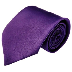 Boys Cadbury Purple Plain Satin Tie (45'')