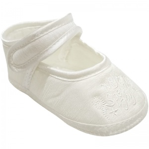 Baby Girls Ivory Dupion My Special Day Christening Shoes