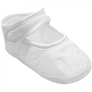 Baby Girls White Dupion My Special Day Christening Shoes