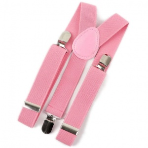 Baby / Toddler Watermelon Pink Y-Back Adjustable Braces