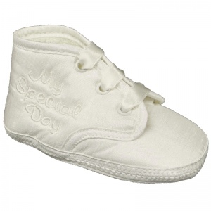 Baby Boys Ivory Dupion My Special Day Christening Pram Shoes