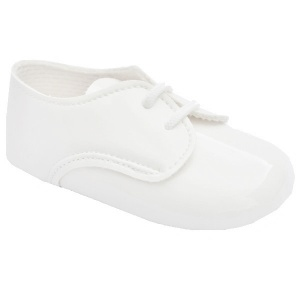 Baby Boys White Patent Lace Pram Shoes 'Baypods'