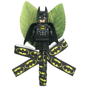 Boys Batman Figure & Ribbon Buttonhole