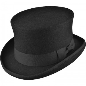 Boys Black Premium Wool Classic Top Hat