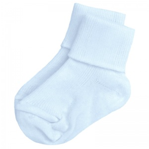 Boys Sky Blue Plain Soft Ankle Socks