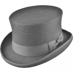Boys Grey Premium Wool Classic Top Hat