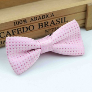 Boys Light Pink Polka Dot Bow Tie with Adjustable Strap