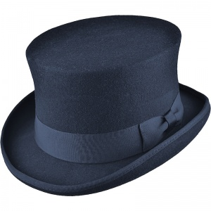 Boys Navy Premium Wool Classic Top Hat
