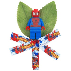 Boys Spiderman Figure & Ribbon Buttonhole